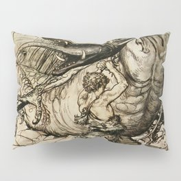 """Sigfried Kills Fafner"" by Arthur Rackham Pillow Sham"