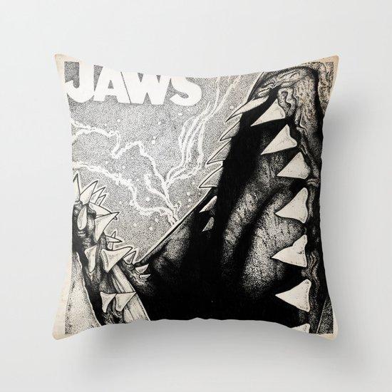 Jaws Throw Pillow
