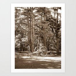 Cannon at Mabry Mill (Sepia) Art Print