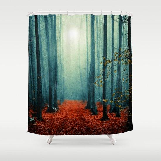 Landscape (colour option) Shower Curtain
