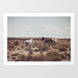 Behind the Horse Art Print
