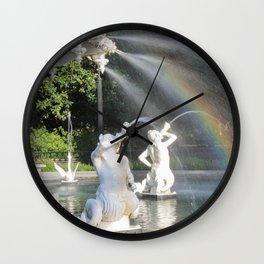 Savannah's Forsyth Fountain Wall Clock