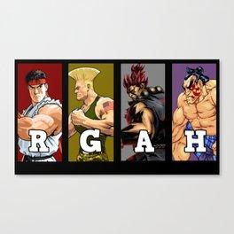 Team Street Fighter Canvas Print