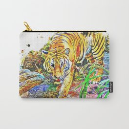 Tiger Walking Wild Carry-All Pouch