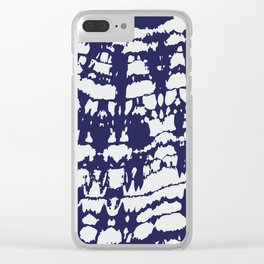 Discharge Fabric Pattern #1B Clear iPhone Case