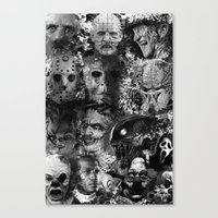 horror Canvas Prints featuring Horror by Sinister Star