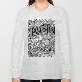 Geometric Mutations: Austin, TX Long Sleeve T-shirt