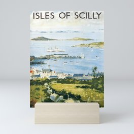 old placard Isle of Scilly Mini Art Print