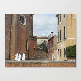 3 Nuns Venice Italy Photograph | Christian Sisters | Catholic Photography Canvas Print