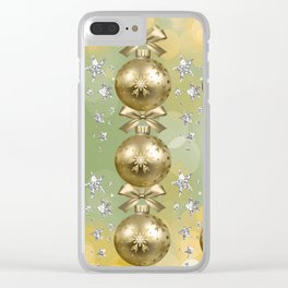 The Joy of Christmas - Gold Clear iPhone Case