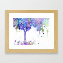 Watercolor Abstract Purple Tree Framed Art Print