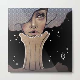 Madame Crystal Metal Print