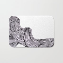 Abstract organic line drawing doodle 3 Bath Mat