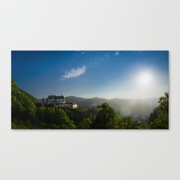 Castle from Books Canvas Print