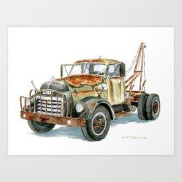 Old GMC Wrecker Art Print