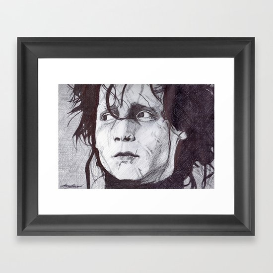 Edward Scissorhands   Framed Art Print
