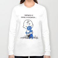 volkswagon Long Sleeve T-shirts featuring Happiness is  by BulldawgDUDE
