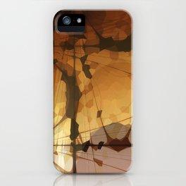 Abstract Art- Brown Art- Sacred Geometry Art- Catana- Pattern Art- Yellow- Beige iPhone Case