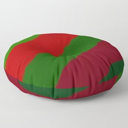 Red and Green Christmas Gift Floor Pillow