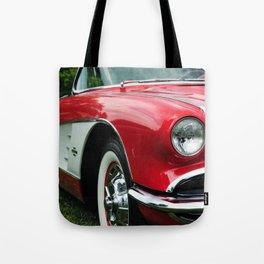 Red Corvette Tote Bag
