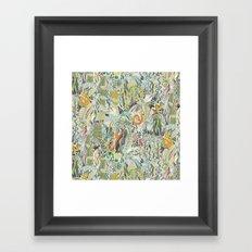 hairspray jungle Framed Art Print
