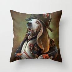 Napoleon Boneaparte Throw Pillow