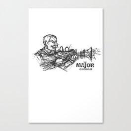 Rough Major Sketch Canvas Print