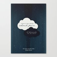 the fault in our stars Canvas Prints featuring The Fault in Our Stars by thatfandomshop
