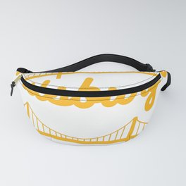 Pittsburgh Bridges Collage Art Gifts Fanny Pack