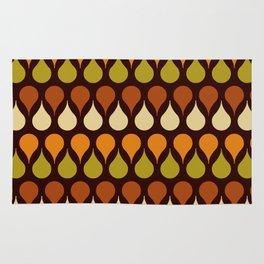Brown retro 60s color drop pattern Rug