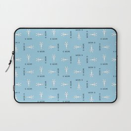 Be Awesome - Blue - Small Pattern Laptop Sleeve