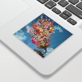 Tunes in Bloom Sticker
