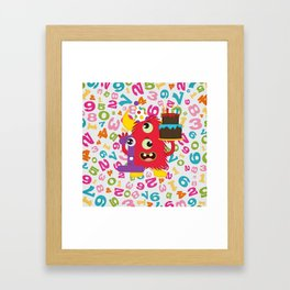 Birthday Monster 1st Birthday Framed Art Print