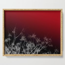 Tree Top-Red Serving Tray