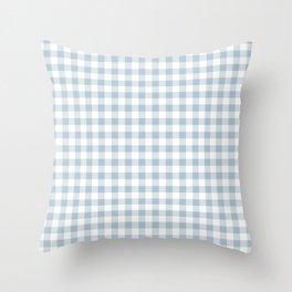 Blue Gingham Throw Pillow