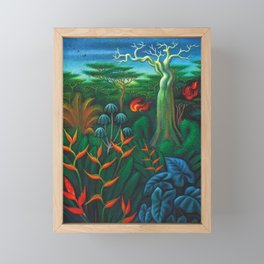 Aves del Paraiso - Birds of Paradise by Miguel Covarrubias Framed Mini Art Print
