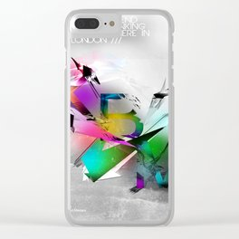 Typographic Dream Clear iPhone Case