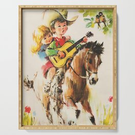 Little Cowboy Serving Tray