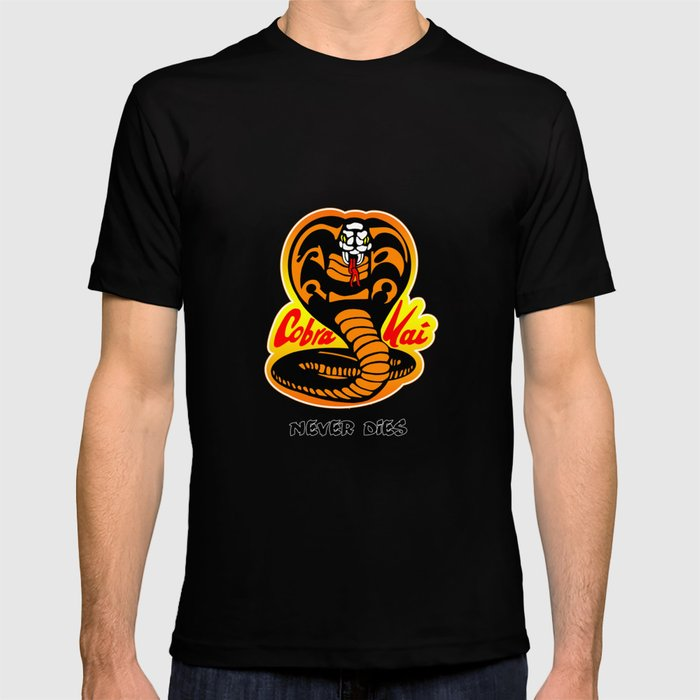 6548d54e Cobra Kai - Never Dies - Karate Kid T-shirt by w855173w | Society6