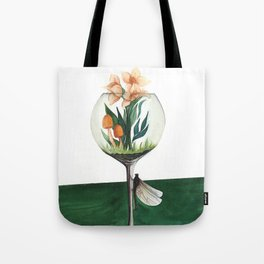 Unexpected Terrarium Dragonfly Tote Bag