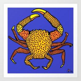 Crab on Crab Art Print