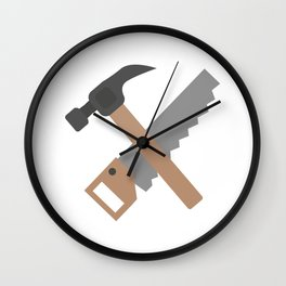 Hammer and saw   Wall Clock