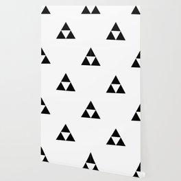 Triforce (Black on White) Wallpaper
