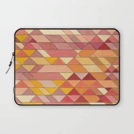 Triangle Pattern no.4 Warm Colors Red and Yellow Laptop Sleeve
