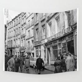 Rue des Rosiers, in het centrum van de Joodse wijk Le Marais, Bestanddeelnr 254 0548 Wall Tapestry