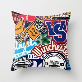 TEAM SPN Throw Pillow