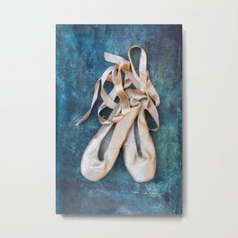 A Pair Of Pointe Shoes Metal Print