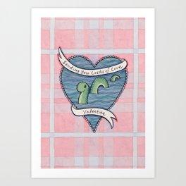 Nessie Valentine Art Print