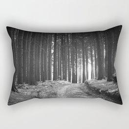 Forest (Black and White) Rectangular Pillow