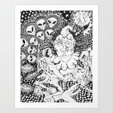 Alien Sex Party Art Print